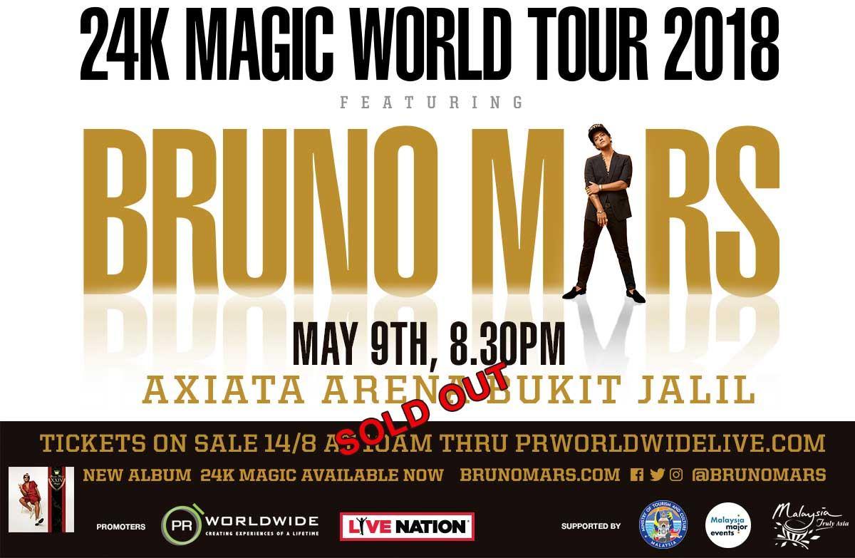 Bruno Mars Live In Kuala Lumpur
