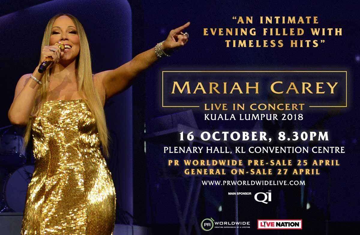 Mariah Carey Live In Concert Kuala Lumpur 2018
