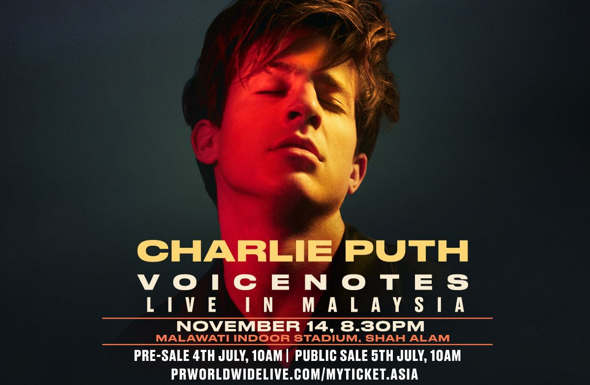 Charlie Puth Voicenotes Tour Live In Malaysia Tickets Priced From