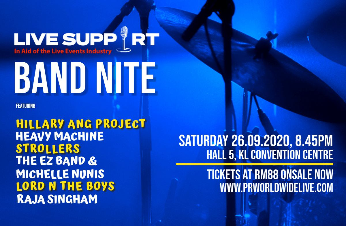 LIVE SUPPORT – In Aid of the Live Events Industry – Band Nite