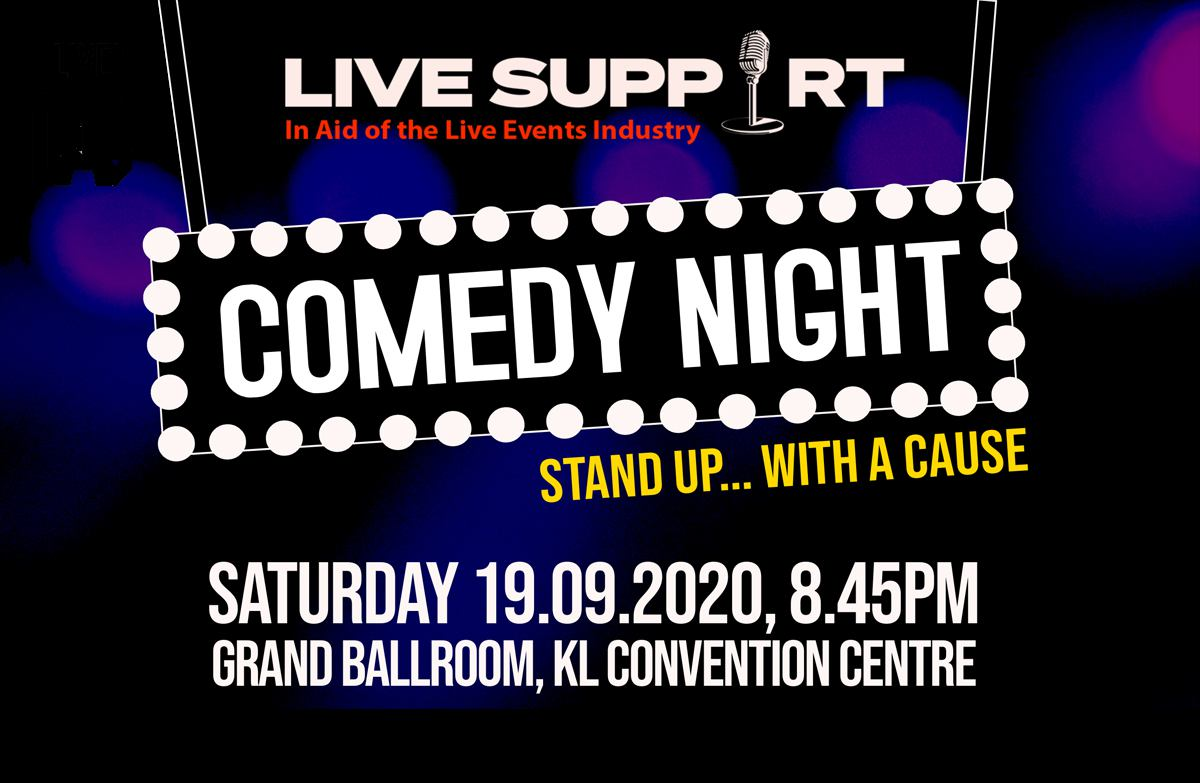 LIVE SUPPORT –  In Aid of the Live Events Industry – Comedy Night