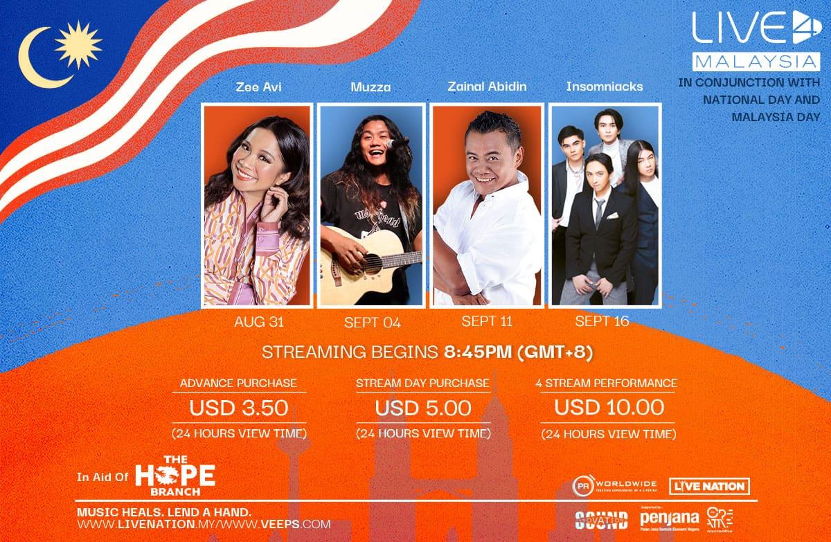 Live4Malaysia | 31 Aug – 16 Sep